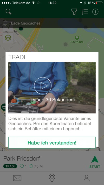 geocaching app tutorial jeckyl video tradi