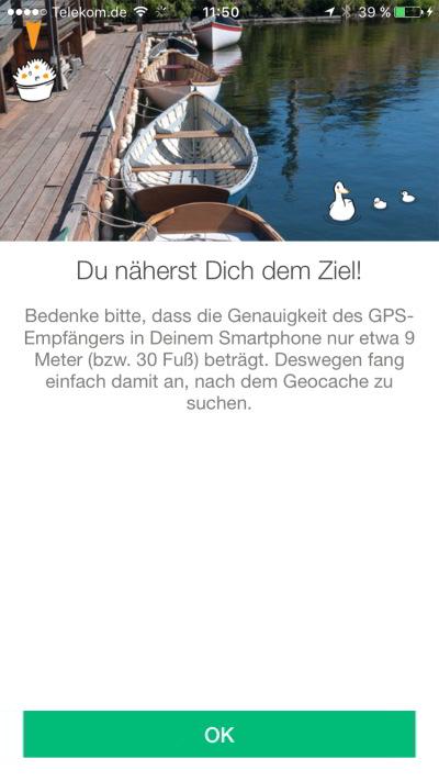 geocaching app tutorial jeckyl annäherung