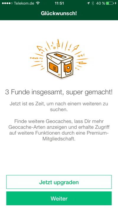 geocaching app tutorial jeckyl glückwunsch