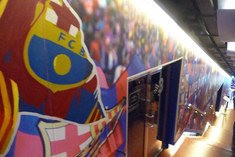 barcelona sightseeing jeckyl camp nou treppe stadion